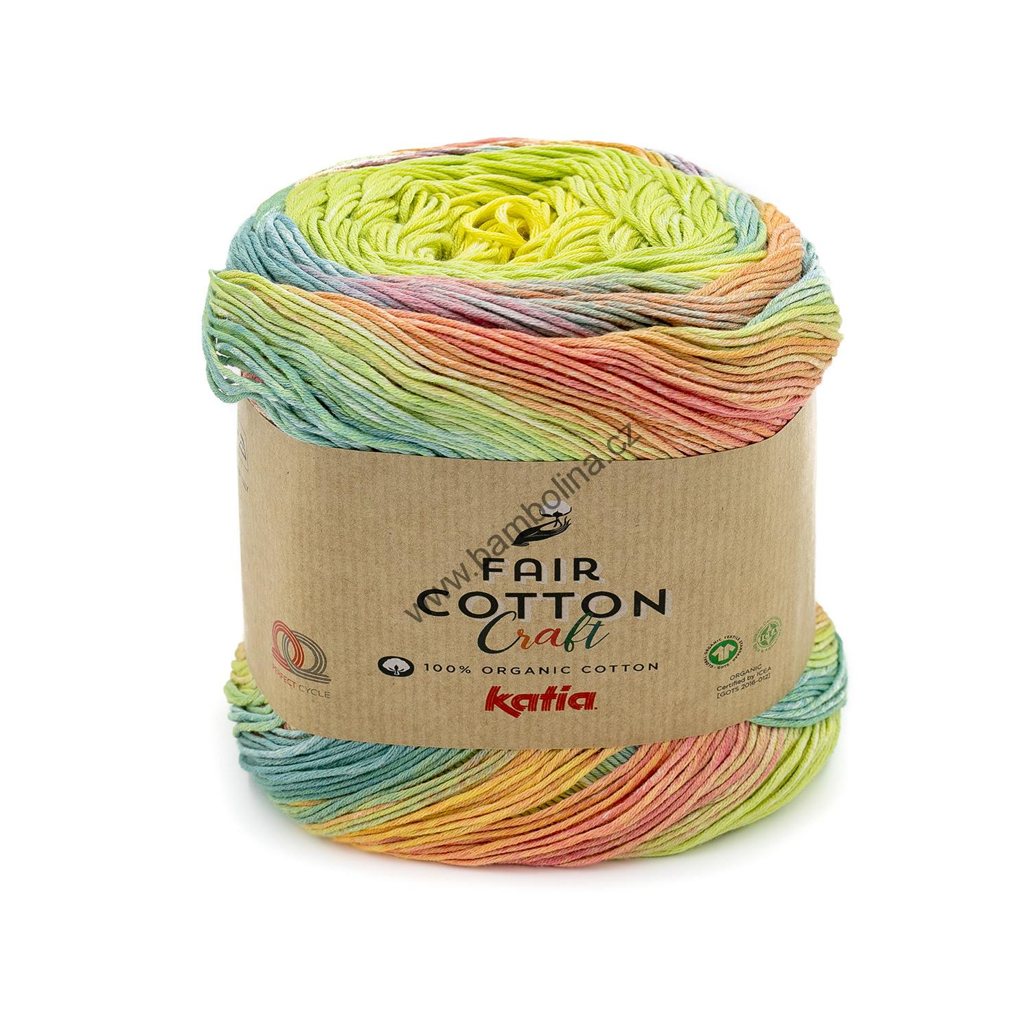 KATIA - FAIR COTTON CRAFT 602 +  3 návody ZDARMA -  Lemon/Blue/Green/Rose