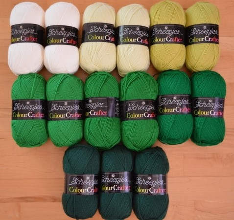 ARIZONA CAL - barevný mix COLOUR CRAFTER - GREEN (15ks)
