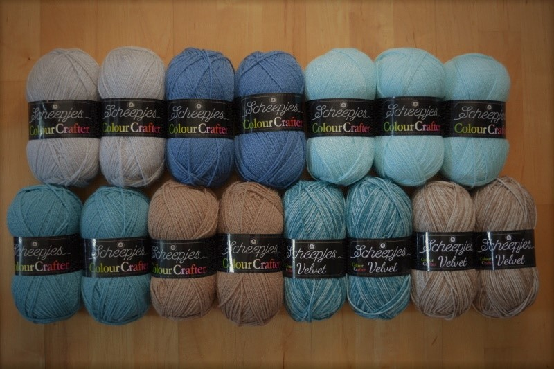 COSMIC CAL - barevný mix COLOUR CRAFTER - BLUES (15ks)