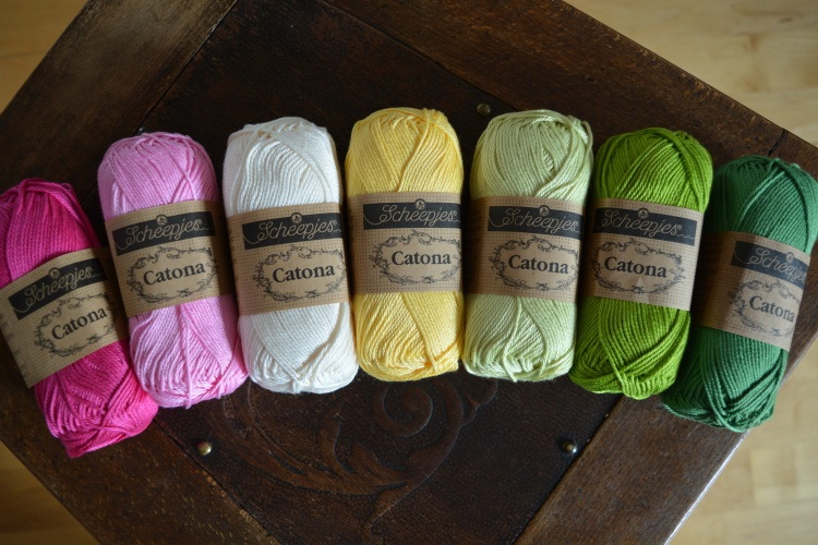 SCHEEPJES - barevný mix CATONA - IN THE YARN GARDEN CAL (7ks) - PINK