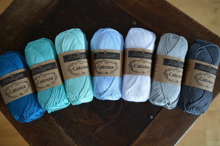SCHEEPJES - barevný mix CATONA - IN THE YARN GARDEN CAL (7ks) - OCEÁN
