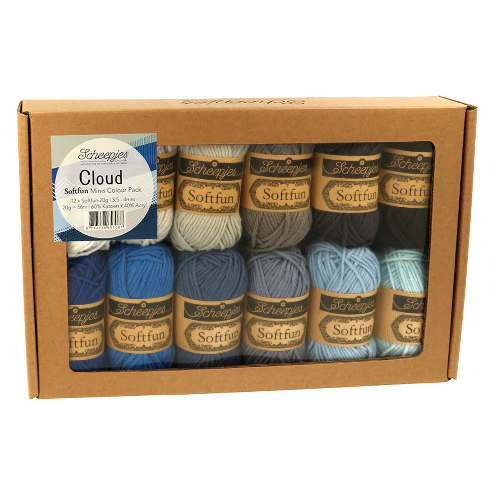 SCHEEPJES - sada SOFTFUN 12x20g - CLOUD