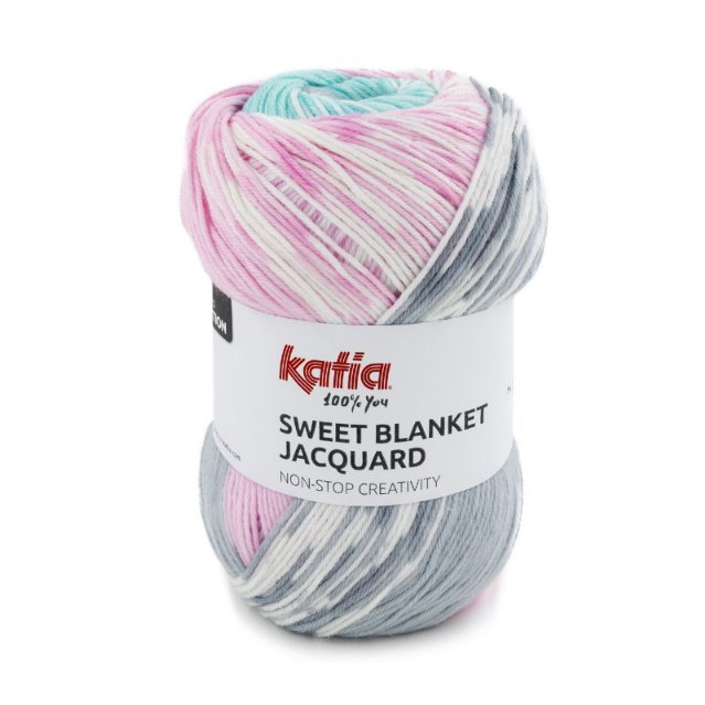 KATIA - SWEET BLANKET JACQUARD 304 - rose/grey/water blue
